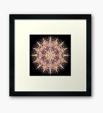 Warm Ornate Mandala Framed Print