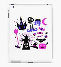 Cute Halloween cartoon elements. Purple black iPad Case/Skin
