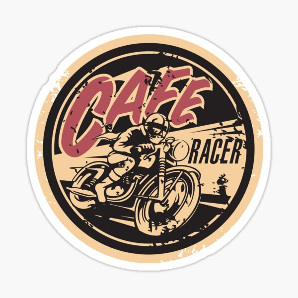Le logo officiel de Cafe Racer TV Sticker