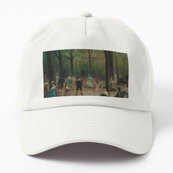 Luxembourg Gardens Oil Painting by William James Glackens Dad Hat