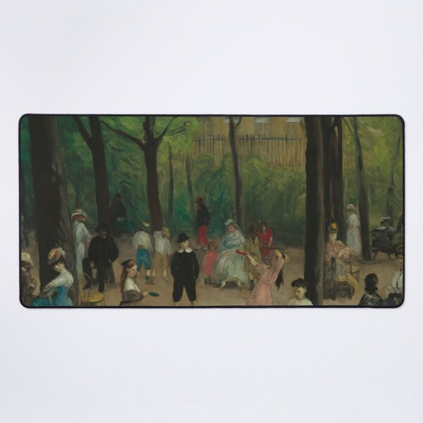 Luxembourg Gardens Oil Painting by William James Glackens Desk Mat
