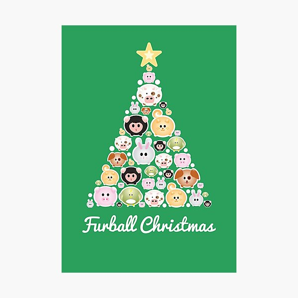 Furball Tree Collection Photographic Print