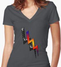 Lightning nr. 3 Women's Fitted V-Neck T-Shirt