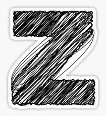 Sketchy Letter Series - Letter Z Sticker