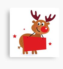 New in shop : Christmas red nosed Reindeer character Canvas Print