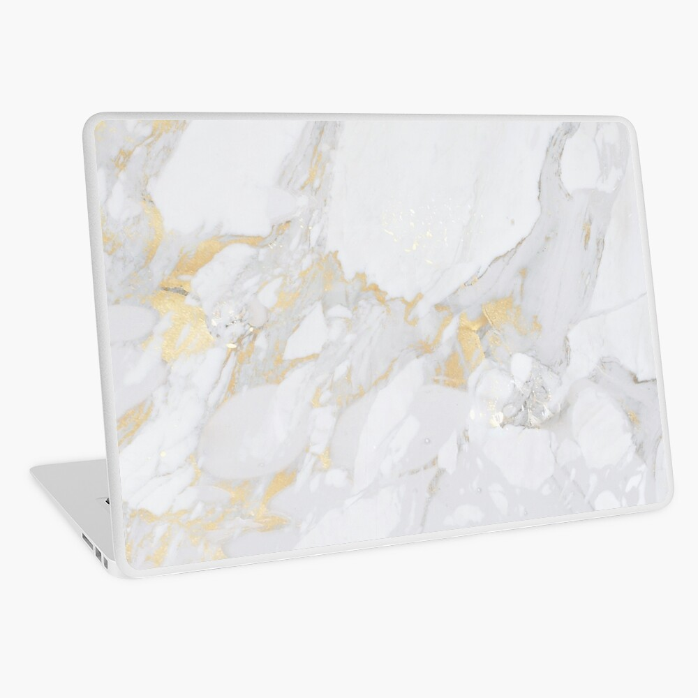 Marble with Gold Laptop Skin