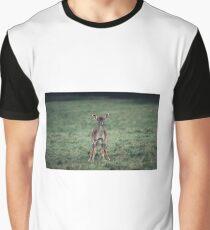 Baby deer urinating Graphic T-Shirt