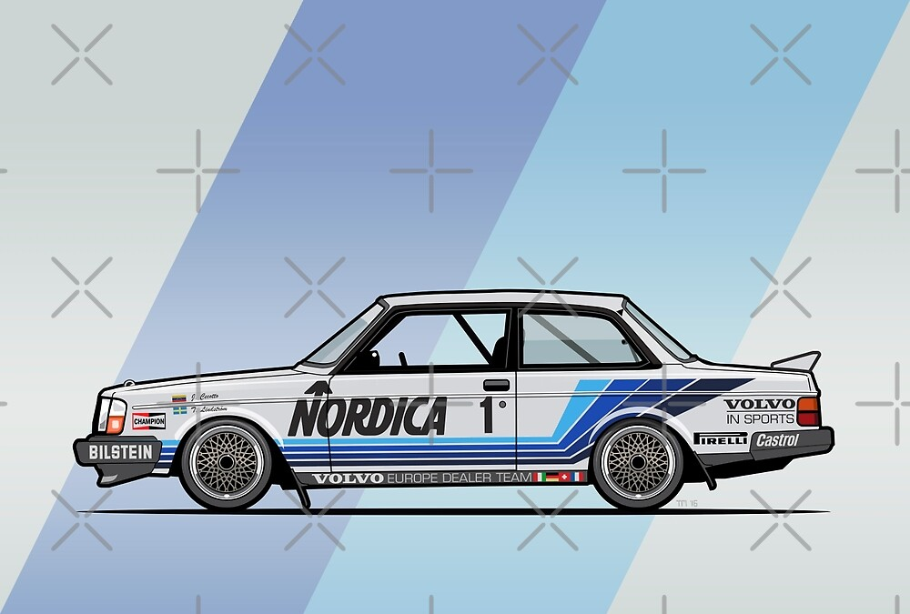 Volvo 240 242 Turbo Group A Homologation Race Car by Tom Mayer