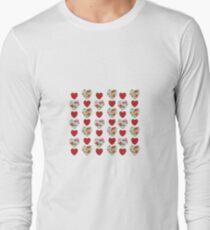 Floral Heart Pattern Long Sleeve T-Shirt