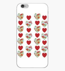 Floral Heart Pattern iPhone Case