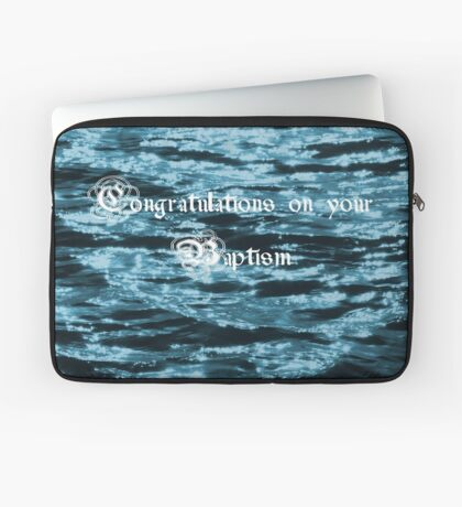 Baptism Card Laptop Sleeve