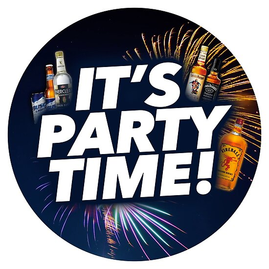 it s party time clock posters by freevelocity redbubble
