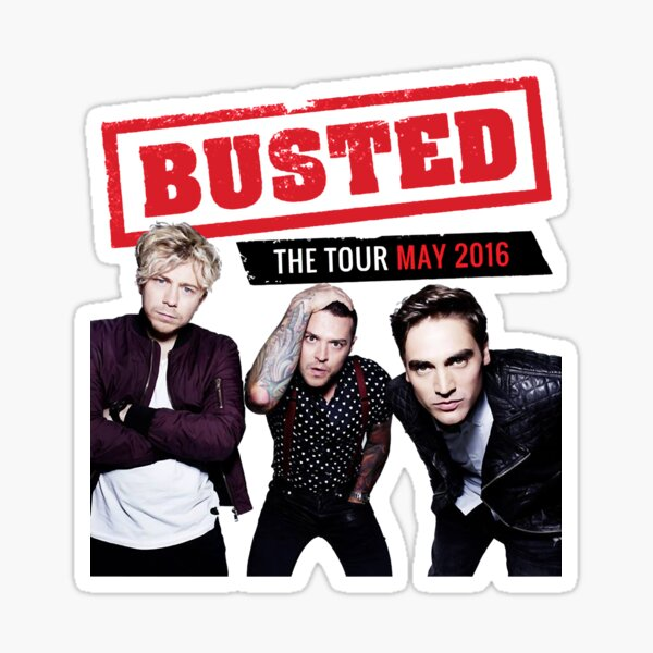 Retro Vintage Busted Tour 2016 Gift For Everyone Sticker