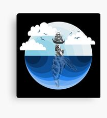 Nature Blues - The Giant Turtle Canvas Print