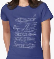 F-86 Concept Blueprint Womens Fitted T-Shirt