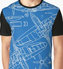 Spitfire Concept Blueprints Graphic T-Shirt