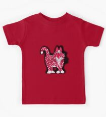 Red, black and white Kids Tee