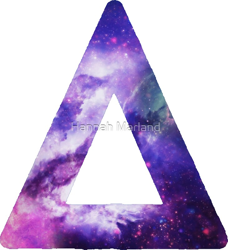 Galaxy Hipster Triangle Tumblr Stickers Redbubble
