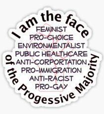 I am the Progressive Majority 01 Sticker
