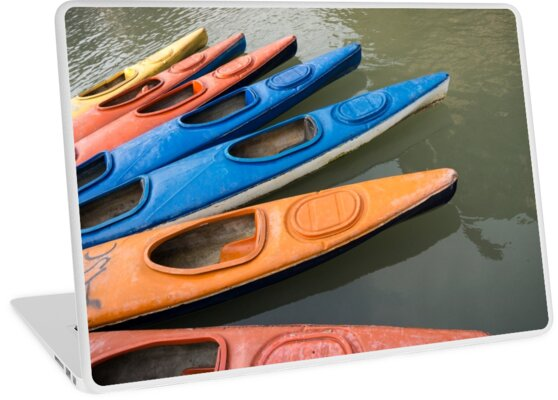 seven kayaks by Anne Scantlebury