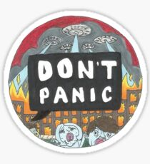 All Time Low Don't Panic sticker Sticker