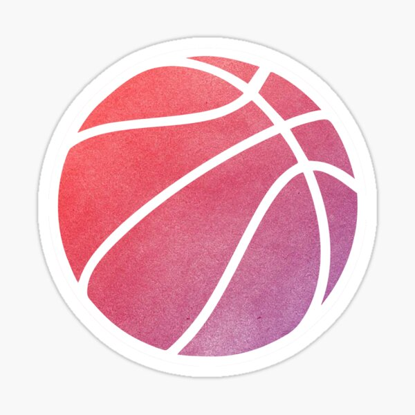 Basketball multicolore Sticker