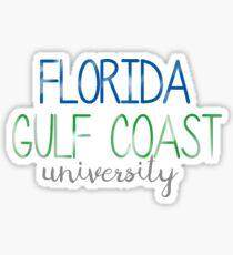 Thin FGCU Sticker Sticker