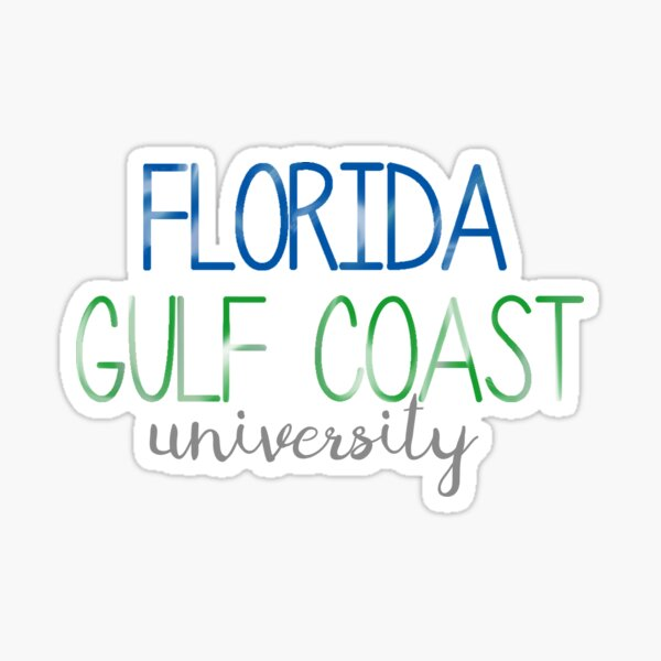 Thin FGCU Sticker Sticker