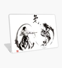 Aikido federation show double enso fight line circle martial arts japan  Laptop Skin