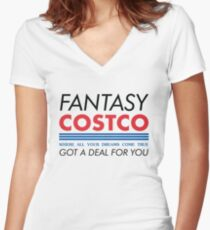 44876ad4f0098 Fantasy Costco Typography Shirt Women s Fitted V-Neck T-Shirt