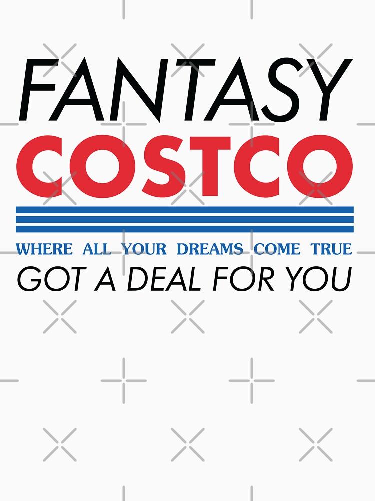 Fantasy Costco Typography Shirt by seasofstars