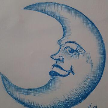 Blue moon   by KathHanthorneAr
