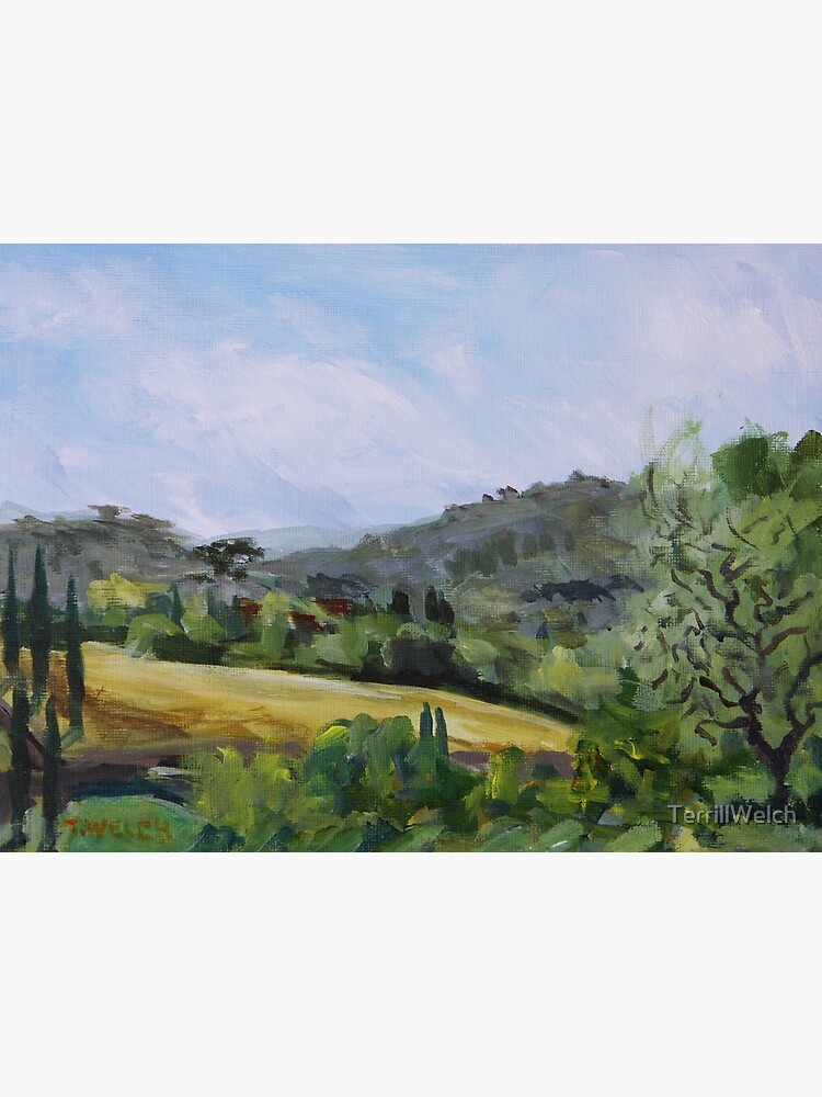 Valley in Galluzzo southern part of Florence Italy by TerrillWelch