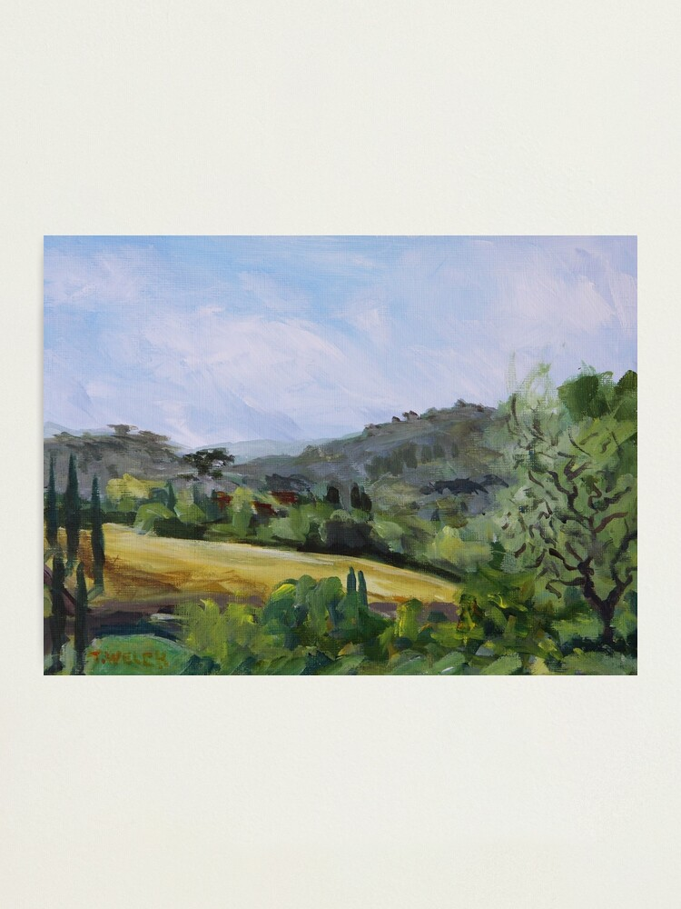 Alternate view of Valley in Galluzzo southern part of Florence Italy Photographic Print