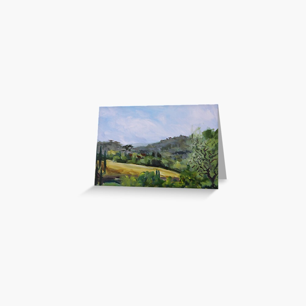 Valley in Galluzzo southern part of Florence Italy Greeting Card