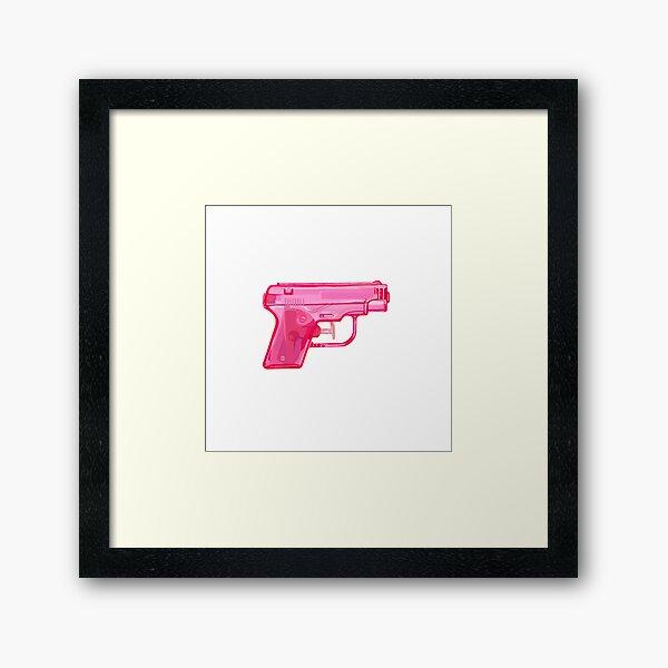 Pink Water Gun Framed Art Print
