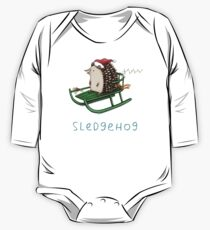 Sledgehog Long Sleeve Baby One-Piece