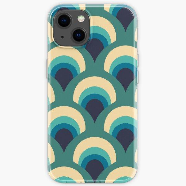 blaues Muster iPhone Flexible Hülle