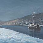 «Mapledurham en invierno» de Richard Picton