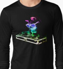 HOUSE CAT (Rainbow DJ Kitty) Long Sleeve T-Shirt
