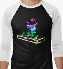 HOUSE CAT (Rainbow DJ Kitty) Men's Baseball ¾ T-Shirt