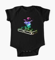 HAUS CAT (Regenbogen DJ Kitty) Baby Body Kurzarm