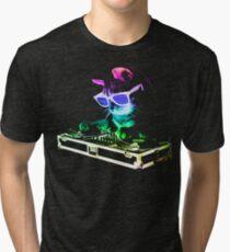 HOUSE CAT (Rainbow DJ Kitty) Tri-blend T-Shirt