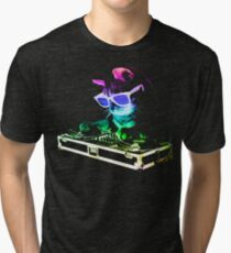 HOUSE CAT (Rainbow DJ Kitty) Tri-blend T-Shirt