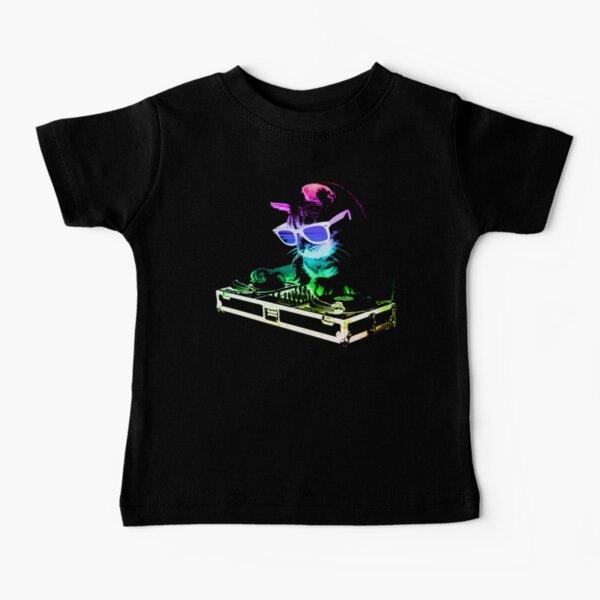 HOUSE CAT (Rainbow DJ Kitty) Baby T-Shirt