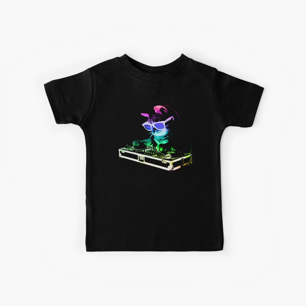 HOUSE CAT (Rainbow DJ Kitty) Kids T-Shirt