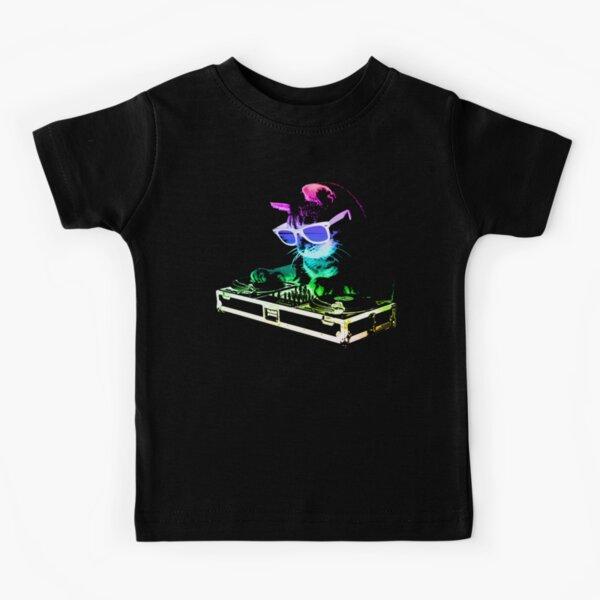 HOUSE CAT (Rainbow DJ Kitty) Kids T-Shirt