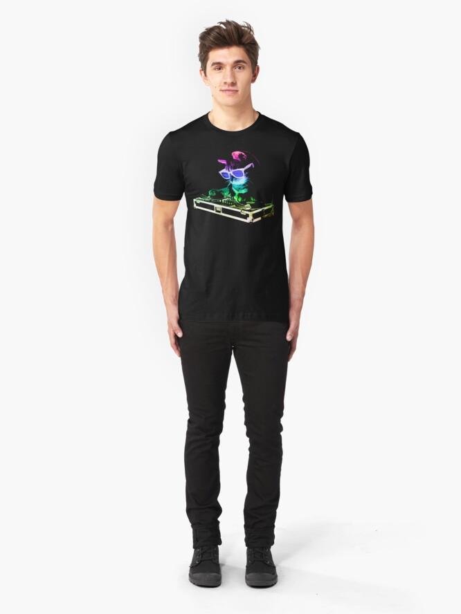Alternative Ansicht von HAUS CAT (Regenbogen DJ Kitty) Slim Fit T-Shirt