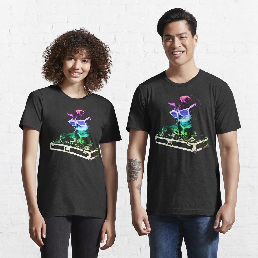 HOUSE CAT (Rainbow DJ Kitty) Essential T-Shirt