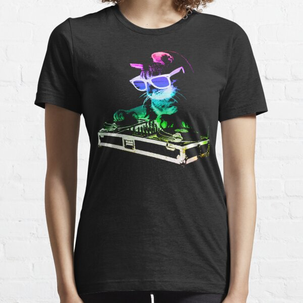 CAT MAISON (Rainbow DJ Kitty) T-shirt essentiel